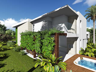 Renata Matos Arquitetura & Business Modern houses Wood White