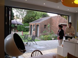extension and alteration to edwardian house Sheffield Jump Architects Ltd Eclectic style windows & doors Aluminium/Zinc Grey