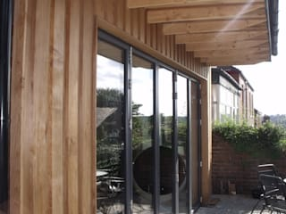 extension and alteration to edwardian house Sheffield Jump Architects Ltd Eclectic style houses Wood