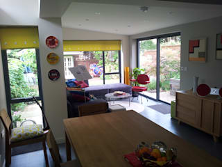House extension and alterations London Eclectic style dining room by Jump Architects Ltd Eclectic