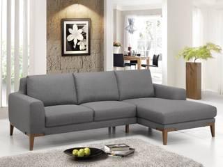 Canapé d'angle contemporain SUN GREY:  de style  par Delorm Design