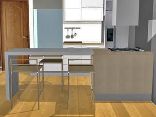 Cocina de apartamento:  de estilo  por Loft 5101 F.P.