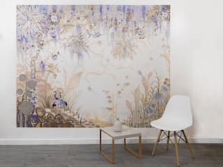 Wisteria wallpaper mural Diane Marsland Art, Design & Interiors Walls & flooringWallpaper Paper Blue
