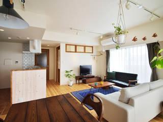 光と風が通るナチュラルな大空間。収納たっぷりの快適な住まい: 株式会社スタイル工房が手掛けたです。