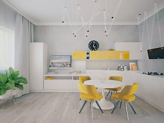 Salones de estilo ecléctico de МайАрт: ремонт и дизайн помещений Ecléctico