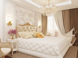проект спальни по ул. Райсовета (Новосибирск, 2016): Спальни в . Автор – izooom