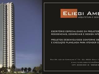 Modern office buildings by Eliegi Ambrosi Arquitetura e Design de Interiores Modern