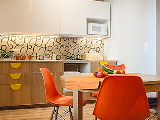 Finchstudio Modern style kitchen Orange
