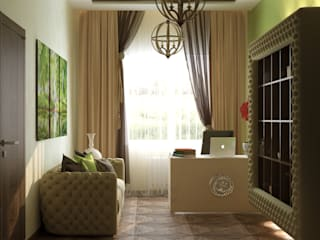 Eclectic style study/office by Студия интерьерного дизайна happy.design Eclectic