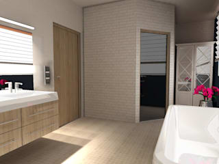 Eclectic style bathroom by BIURO PROJEKTOWE JERZY SEROKA Eclectic