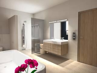 Banheiros modernos por BIURO PROJEKTOWE JERZY SEROKA Moderno