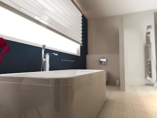 Modern bathroom by BIURO PROJEKTOWE JERZY SEROKA Modern