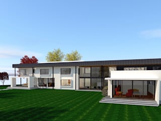 CASA JHMA MACHALI Casas de estilo minimalista de ARQvision BIM Sustainable Architecture Minimalista