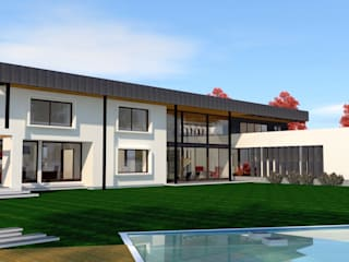 CASA JHMA MACHALI: Casas de estilo  por ARQvision BIM Sustainable Architecture