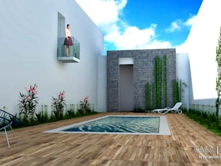 Modern style gardens by Perspectiva Arquitectos México Modern