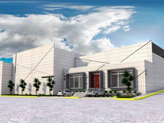 Bodega de Materiales para la Construcción Estudios y despachos industriales de PRISMA ARQUITECTOS Industrial