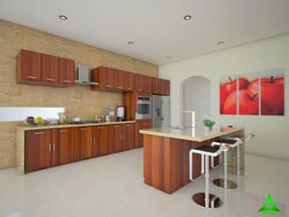 Casa Encinos Cocinas modernas de PRISMA ARQUITECTOS Moderno