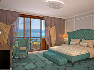 Гурьянова Наталья Classic style bedroom Turquoise