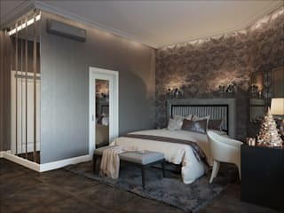 ПЕРЛАМУТРОВЫЙ СОН Спальня в эклектичном стиле от GOODESIGN Эклектичный