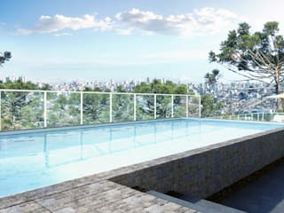 André Petracco Arquitetura Modern Pool