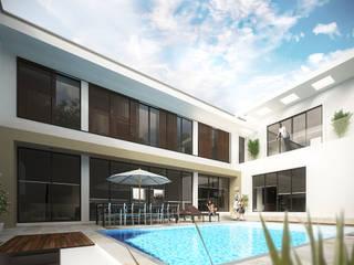 Terraza / Alberca: Albercas de estilo  por Constructora e Inmobiliaria Catarsis