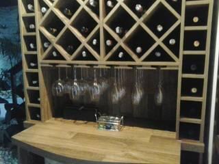 Ateliê Santa Clara Interiores Wine cellar Kayu