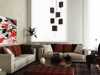 Livings de estilo  por SEMARA BRITO - DESIGN PROJETOS E INTERIORES, Moderno