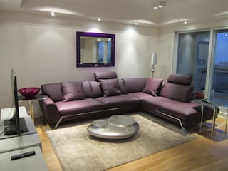 NB INTERIORES Living roomSofas & armchairs Leather Purple/Violet