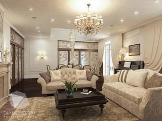 Living room by Архитектурная группа 'ДАЙМОНД' , Classic