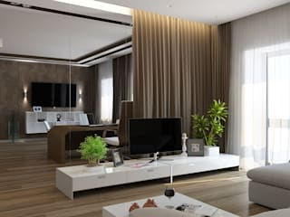 PUZZLE Modern living room Brown