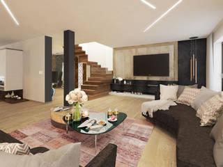 Dom na wzgórzu od Viva Design - projektowanie wnętrz