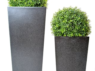 Artificial Topiary Balls Set In Modern Granite Look Planters: classic  by Artificial Green, Classic
