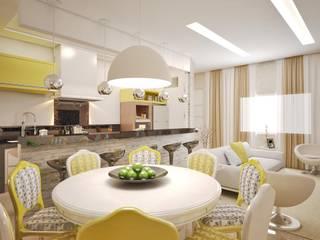 CASA - AMBIENTES INTEGRADOS: Salas de jantar  por Lucas Garcia Bonini - Designer de Interiores