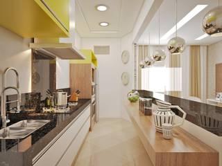 CASA - AMBIENTES INTEGRADOS: Cozinhas  por Lucas Garcia Bonini - Designer de Interiores