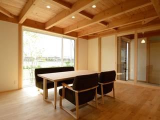 西小保方の家 モダンデザインの リビング の POTOS DESIGN OFFICE モダン