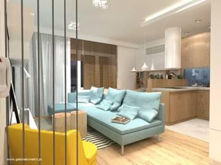 Mieszkanie Białołęka: styl , w kategorii Salon zaprojektowany przez Gabinet Wnętrz
