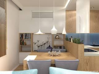 Mieszkanie Białołęka: styl , w kategorii Jadalnia zaprojektowany przez Gabinet Wnętrz