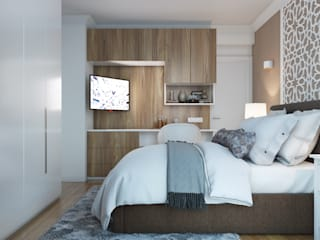 Chambre parentale Chambre moderne par ElenKova architecture Moderne