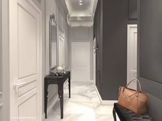 Apartament z klasycznym akcentem Warszawa Ochota: styl , w kategorii Korytarz, przedpokój zaprojektowany przez Gabinet Wnętrz