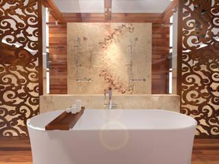 Łazienka dla Podróżnika: styl , w kategorii Łazienka zaprojektowany przez Gabinet Wnętrz