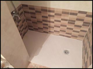 Reformas de Baños - Cambio de bañera por ducha Fecofer, Proyectos y Reformas Baños de estilo rural Beige