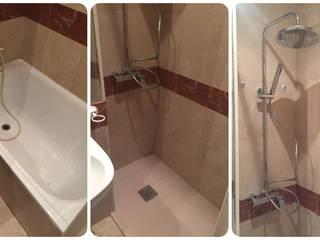 Reformas de Baños - Cambio de bañera por ducha Fecofer, Proyectos y Reformas Baños de estilo clásico Mármol Blanco