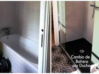 Reformas de Baños - Cambio de bañera por ducha Fecofer, Proyectos y Reformas Baños de estilo moderno Negro