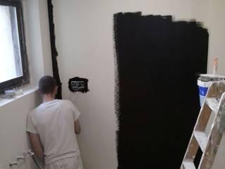 Pintura especial de Pizarra Fecofer, Proyectos y Reformas Cocinas de estilo moderno Pizarra Negro