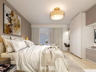 Suite comme a l'hôtel  Paris 75016: Chambre de style  par  ElenKova architecture
