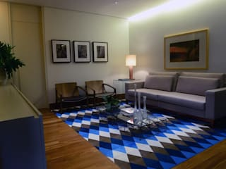 ESCRITÓRIO 320M²: Edifícios comerciais  por Elisa Vasconcelos Arquitetura  Interiores,Moderno