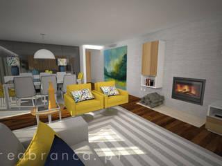 Projeto MC Salas de estar modernas por Areabranca Moderno