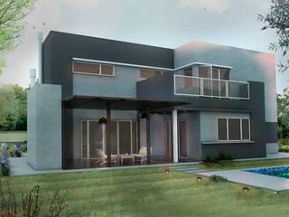 Vivienda Familiar Puertos del Lago Escobar:  de estilo  por RodriguezNumaarquitectura