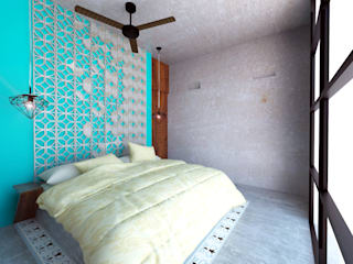 Habitación tipo: Recámaras de estilo  por Hipercubo Arquitectura