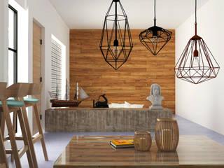 Hipercubo Arquitectura Paredes y pisos de estilo colonial Concreto Blanco